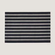 Individual-PVC-rayas-negro-x-6